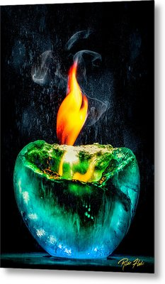 Metal Print featuring the photograph The Winter Of Fire And Ice by Rikk Flohr