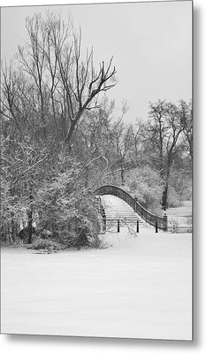 The Winter White Wedding Bridge Metal Print