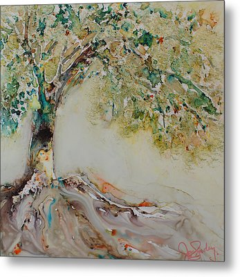 Metal Print featuring the painting The Wisdom Tree by Joanne Smoley