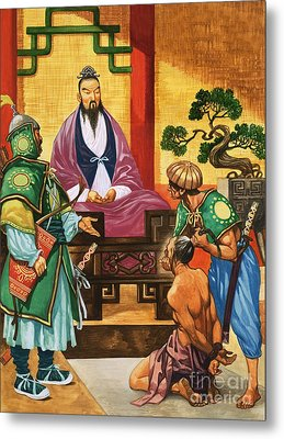The Wise Man Of China  Confucious Metal Print