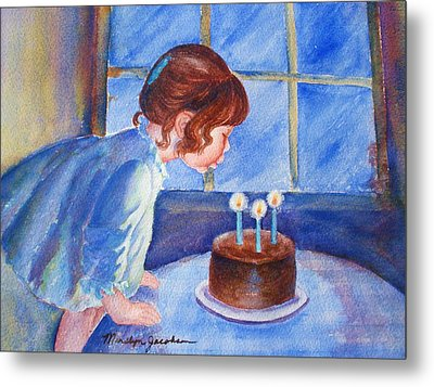 Metal Print featuring the painting The Wish by Marilyn Jacobson