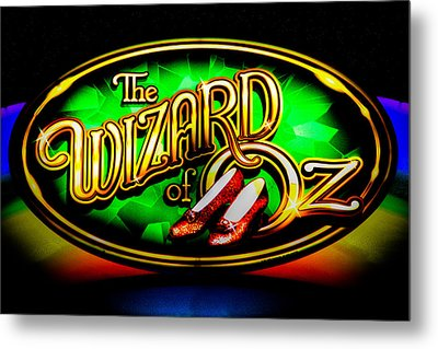 The Wizard Of Oz Casino Sign Metal Print by David Patterson