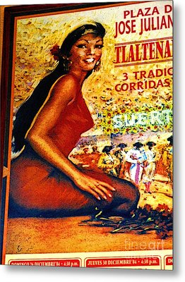 The Woman From Plaza Jose Metal Print by Mexicolors Art Photography