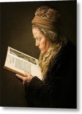 The Woman Reading Metal Print