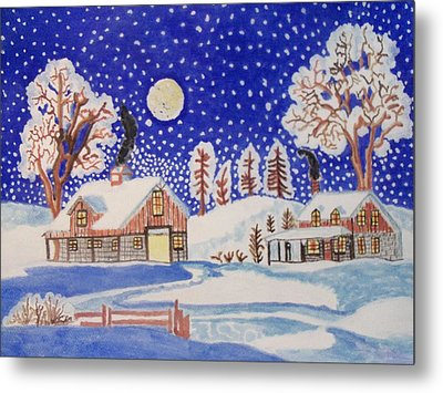 The Wonder Of Winter Metal Print by Connie Valasco