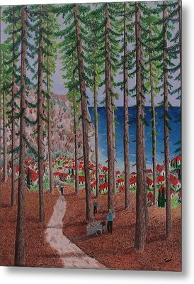 The Wood Collectors Metal Print by Hilda and Jose Garrancho