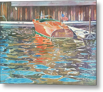 The Wooden Boat Metal Print by LeAnne Sowa