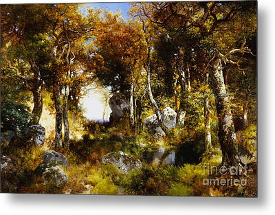 The Woodland Pool Metal Print by Thomas Moran