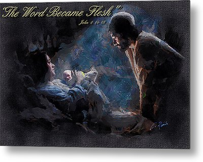 The Word Became Flesh Metal Print