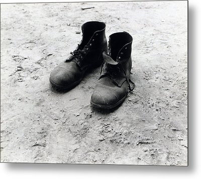 The Work Boots Of Foyd Burroughs Metal Print by Everett