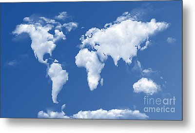 The World In The Clouds Metal Print by Bedros Awak