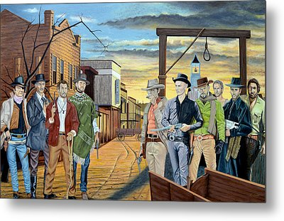 The World Of Classic Westerns Metal Print by Tony Banos