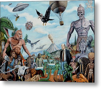 The World Of Ray Harryhausen Metal Print by Tony Banos