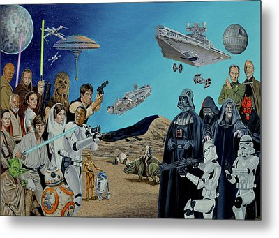 The World Of Star Wars Metal Print by Tony Banos