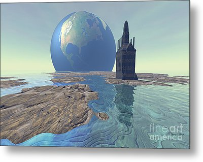 The World Turns Metal Print by Corey Ford