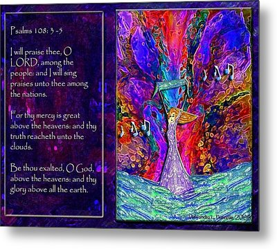 The Worshipping Heart And The Anointing Of Colors Metal Print by Cassandra Donnelly