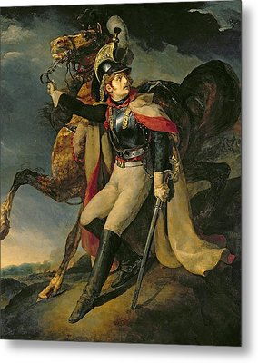 The Wounded Cuirassier Metal Print by Theodore Gericault