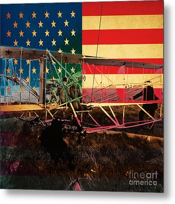 The Wright Bothers An American Original Metal Print by Wingsdomain Art and Photography