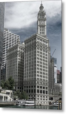 Metal Print featuring the photograph The Wrigley Building by Alan Toepfer