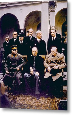 The Yalta Conference, Seated Joseph Metal Print by Everett