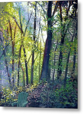 The Yard - Summer Dawn Metal Print by Gregg Hinlicky