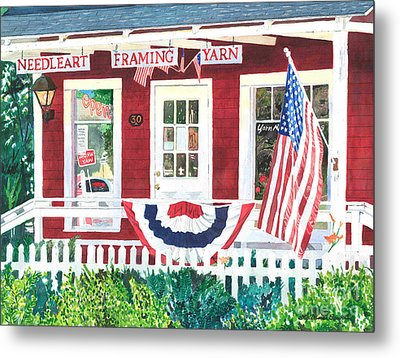 The Yarn Shop Metal Print by LeAnne Sowa