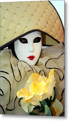 The Yellow Rose Metal Print by Donna Corless