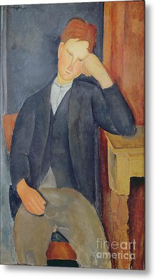 The Young Apprentice Metal Print by Amedeo Modigliani