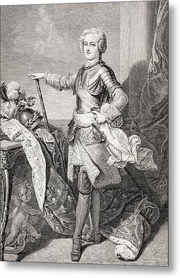 The Young King Louis Xv Of France, 1710 Metal Print