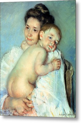 The Young Mother Metal Print by Mary Stevenson Cassatt