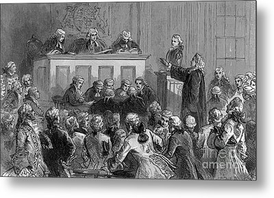 The Zenger Case, 1735 Metal Print by Photo Researchers