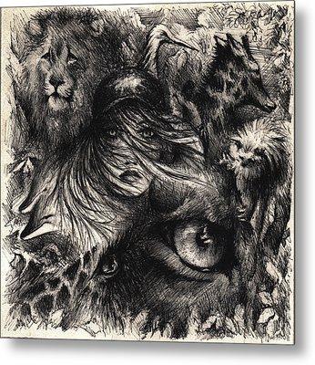 The Zoo Girl Metal Print by Rachel Christine Nowicki