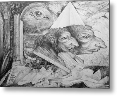The Zwerg Nase Twins Dreaming Of World Domination Metal Print by Otto Rapp