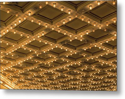 Theater Ceiling Marquee Lights Metal Print by David Gn
