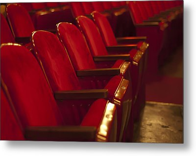 Metal Print featuring the photograph Theater Seating by Carolyn Marshall