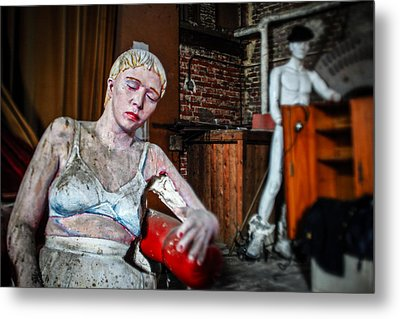 Theatre Puppets - Abandoned Places Metal Print by Dirk Ercken