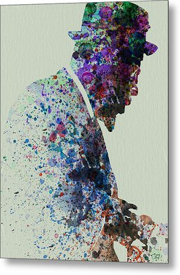 Thelonious Monk Watercolor 1 Metal Print by Naxart Studio