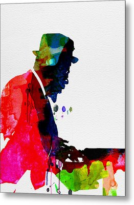 Thelonious Watercolor Metal Print by Naxart Studio