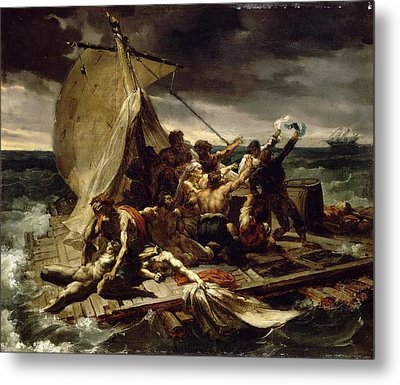 Theodore Gericault  The Raft Of The Medusa Sketch 1818 Metal Print by Celestial Images