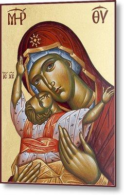 Theotokos Kardiotissa I Metal Print by Julia Bridget Hayes
