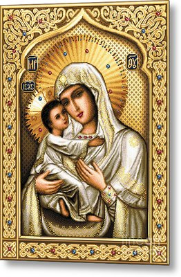 Theotokos Of Tenderness Metal Print by Stoyanka Ivanova