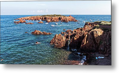 Metal Print featuring the photograph Theoule-sur-mer by Ron Dubin