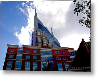 There Where Modern And Old Architecture Meet Metal Print
