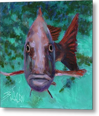 There's Something Fishy Going On Here Metal Print by Billie Colson