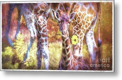 The Whimsical Giraffe  Metal Print