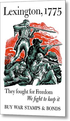 They Fought For Freedom - We Fight To Keep It Metal Print by War Is Hell Store
