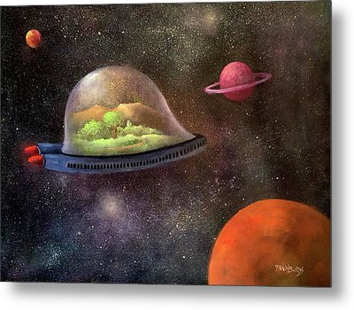 They Took Their World With Them Metal Print by Randy Burns