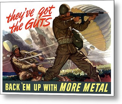 They've Got The Guts Metal Print by War Is Hell Store