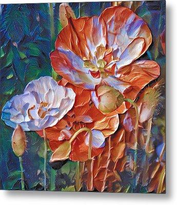 Thick Paint Flowers 2 Metal Print by Yury Malkov