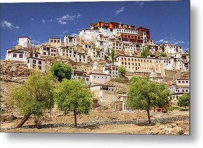 Metal Print featuring the photograph Thikse Monastery by Alexey Stiop